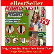 Buy 1 FREE 1 Gift - MAGIC MESH Curtains Hands-FREE Screen Door Anti Mosquito Flies