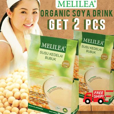 2pcs Melilea Organic Soya Drink - Susu Kedelai Organik Melilea (Isi: 500 gram)