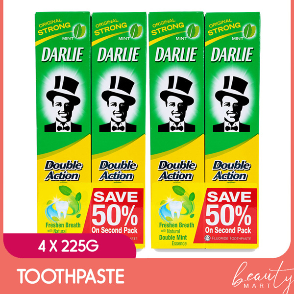 [Bundle 4] Pasta Gigi Aksi Ganda Nilai Darwin Seri 225g Deals for only Rp75.000 instead of Rp75.000