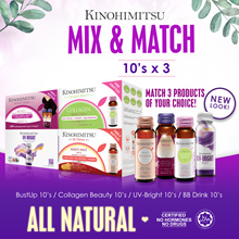 Kinohimitsu Beauty Collagen Drink/BB Drink/Bust Up/UV Bright/Detox Plum Juice| MixnMatch 10sx3