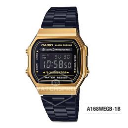 *CASIO GENUINE* Vintage Retro Gold A168WEGB-1B Illuminator Alarm Watch. Free Shipping!