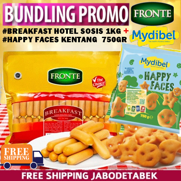 PROMO BUNDLING Breakfast Hotel 1KG+Mydibel Happy Faces 750gr FREE SHIPPING JABODETABEK Deals for only Rp128.900 instead of Rp128.900