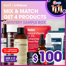 11.11Day =$100 [Mix and Match] Get 4 at $150!! Klairs By wishtrend