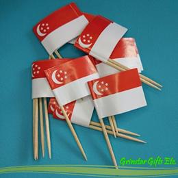 Mini Singapore toothpick flags 20pcs * SG flag cupcake topper NDP National Day Majulah *
