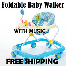 【FREE SHIPPING】Multi Function Baby walker learning to walk with toys/ Music to stimulate sense