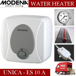 [FREE SHIPPING JADETABEK] WATER HEATER MODENA UNICA-ES 10 A 250 W DOUBLE THERMOSTAT TITANIUM PORCELA