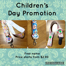 [Free Name] Personalised / Customised Handmade Bag Tag / Lanyard / Pacifier Clip.  Children Day