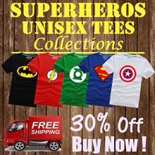 【New Arrivals】☆ Superheroes Marvel DC Avengers ☆ Captain America Batman Spiderman valentine t shirt