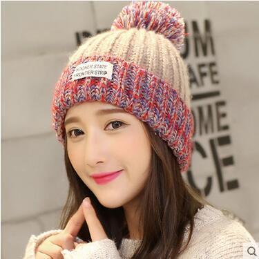 f0f5059ed8f COUPON · Korean Sweet Girls Winter Hat Female Velvet Warm Earmuffs Knitting  Hats