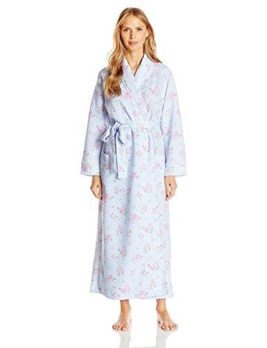 abe31abee9 Qoo10 - Carole Hochman Womens Floral Diamond Quilt Long Robe ...