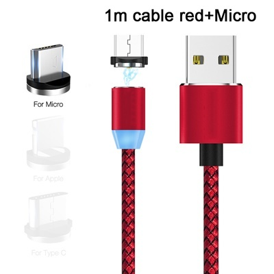 Red cable(1M)+micro Magnetic head