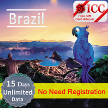 ◆ ICC◆【Brazil Sim Card· 5/10/15/30 Days】❤UP to 15GB 4G/3G data + Unlimited data ❤ Plug and Use