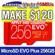[MAKE $120] SAMSUNG Micro SDXC  EVO PLUS 256GB Memory Card★ U3 Class10 ★95MB/s UHS-1