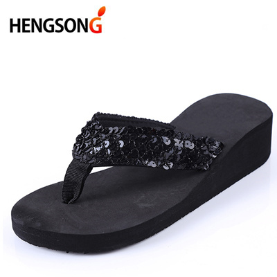 outlet HENGSONG Women Flip Flops female Sandals Summer Sequins Beach  Slippers Women Sandals Cross Fl 55971c5388c6