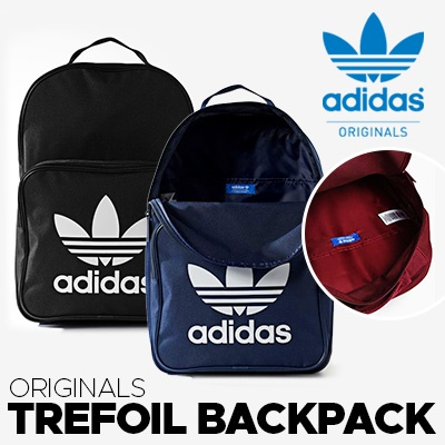 375c81dece AUTHENTIC ADIDAS TREFOIL BLACK BLUE SCHOOL BACKPACK BAG SLING SHOULDER  PREMIUM SALE FREE SHIPPING