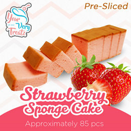 [Newly Launch] Pre Sliced Strawberry Sponge Cake! 85 PCS/Box! FREE DELIVERY
