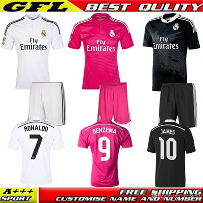outlet store b326e 7dae2 2014 2015 Real Madrid Ronaldo Jersey La Liga Sergio Ramos Benzema Bale  Kroos James Real Madrid 14 15