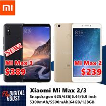 Xiaomi Mi Max 2/3|6.44/6.9 inch|4GB+64GB/128GB|Snapdragon 625/636|5300/5500mAh|Export Set|Playstore