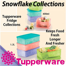 SG Seller ★Authentic TupperWare★ Snowflake Square Fridge Food Containers Kitchen Storage Freezer