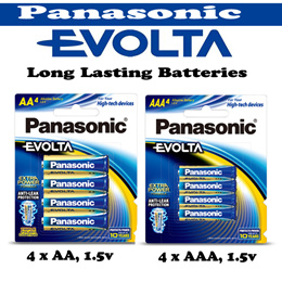 Panasonic Evolta 4pcs AA Size Batteries AAA Batteries Blister Card