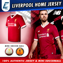 Authentic Liverpool FC Mens Home Short Sleeve Soccer Jersey 2017/18 LFC mini soccer ball