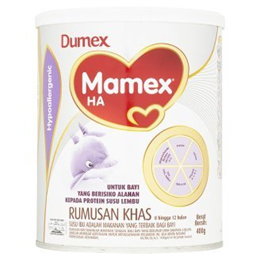 Dumex Mamex Ha Hypoallergenic Formulated Milk Powder 0-12 Months 400g [Halal Certification]