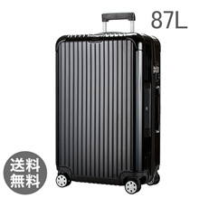 【E-Tag】 RFID tag RIMOWA Rimowa Salsa Deluxe 870.73 87073 【4 wheels】 Suitcase Multi 【SALSA DELUXE】 Black Multiwheel 87L (830