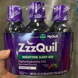 ZzzQuil 지퀼 슬립에이드 마시는 액상형 3개세트 1062ml