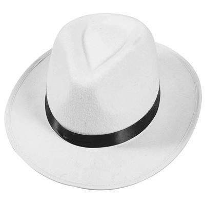 Qoo10 - Kangaroo White Felt Gangster Mobster Fedora Hat   Toys 71451caf7cdd