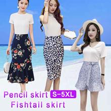 【Buy 3 Free Shipping】★★New Korean fashion dress printed skirt /Fishtail skirt / mini skirt S~5XL