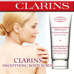 Clarins Smoothing Body Scrub For a New Skin With Bamboo Powder 200ml