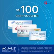 ACUVUE® $100 CASH VOUCHER NOW at $95