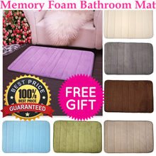 Memory Foam Bathroom Mat / Anti Slip/ Microfiber/ Fluffy/ Floor Mat  Anti-Skid/Anti-Slip Superfine