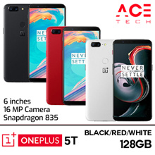 Oneplus 5T / 128GB ROM + 8GB RAM / Black Red White / Export Set with 6 store mths Warranty