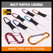 carabiner keychain for survival use outdoor sports molle attachment bottle holder belt clip