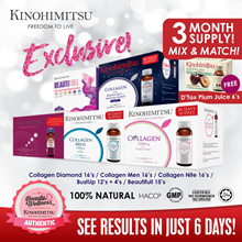 【RM394 after cart coupon discount】3 DAYS SPECIAL PRICE!!! 💎MixnMatch COLLAGEN💎 3MTHS SUPPLY [Diamond/Men/Nite/Bust Up/Beautifull] FREE Plum Juice 6s