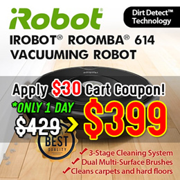 [Best Price!!] iRobot Roomba 614 Vacuuming Robot  Cleaner  / 3-stage cleaning system