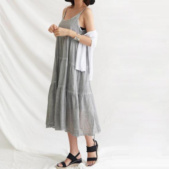 ドレス飛ぶロビニカンカンしわクンなしワンピース シフォン/レースのワンピース/ 韓国ファッション
