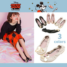 Gracegift-Disney Mickey Family Mickey and Minnie foldable flat/Women/Lady/Girls Shoes/Taiwan Fashion