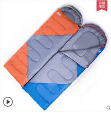 Outdoor adult sleeping bag indoor single sleeping bag autumn and winter warm thickening dirty bed