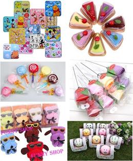 Fr$0.5 Kids part gift/goodies bag/100% cotton face towel/Microfiber towel