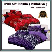 SPREI SETT MONALISA ANEKA MOTIF/ SIZE : 180X200CM / Sprei Sett Saja tanpa Bed Cover