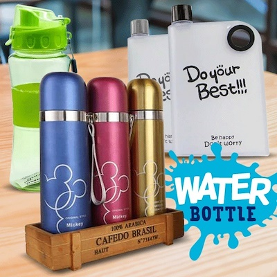 ANEKA MY BOTTLE WITH POUCH | FLAMIMNGO BOTTLE | CLIP UP KARAKTER | SMILE KARAKTER| ANEKA BTL TERMOS Deals for only Rp7.000 instead of Rp7.000