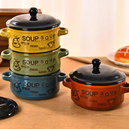 Home Korean casserole soup kitchen to cook porridge pot ceramic lid clay pot rice stew with small st