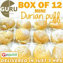 [Gurupatisserie] 12pcs of Freshly Made Mini Durian Puffs!