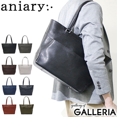 New  Aniari aniary Tote Tote Bag Leather A 4 2 Way Wave Leather Leather c2f0f9a77571f