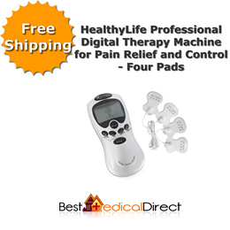 HealthyLife Professional Digital Therapy TENS Machine for Pain Relief and Control w/