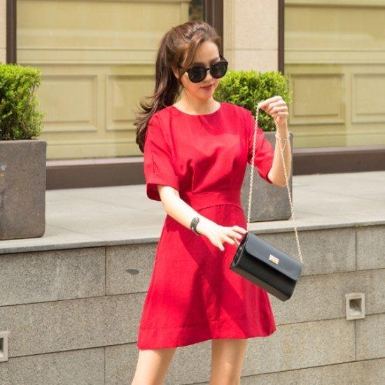 レドゥオピン耀蔵ミニワンピース / サテン/シルクワンピース/ 韓国ファッション