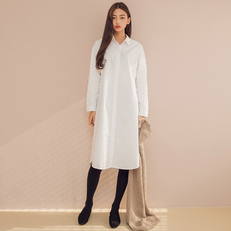 【送料無料】★韓國ファッション★hobby strap shirts long dress♥答えプリーツバッグ