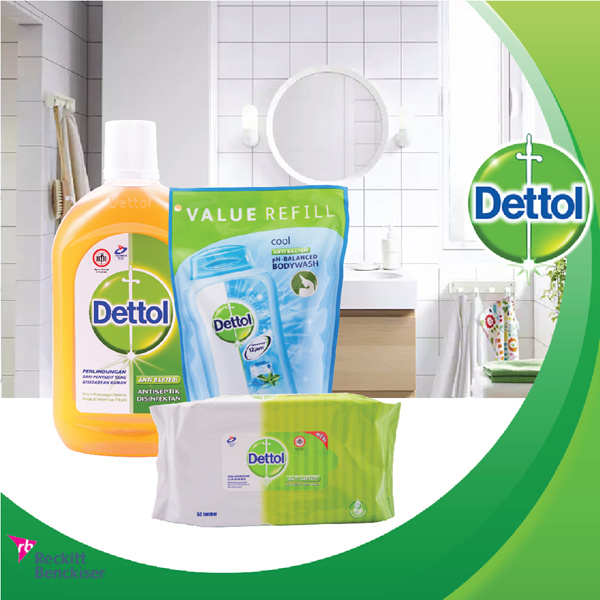 [DETTOL DAILY CARE PACKAGE] Dettol Antiseptic Liquid 500 mL Body Wash 450 mL and Wipes Original 50 Deals for only Rp122.000 instead of Rp122.000